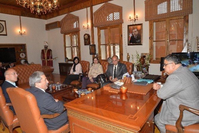 Lefke Belediyesi Heyetinden Yağcı'ya Ziyaret