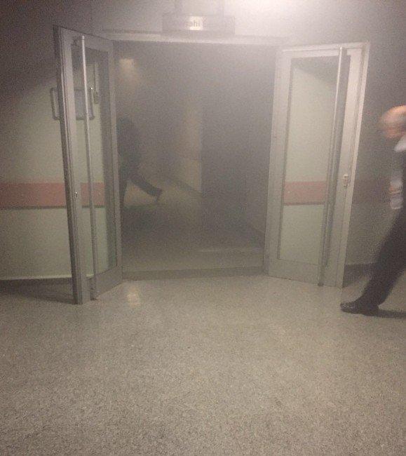 Sandıklı Devlet Hastanesin'de Yangın