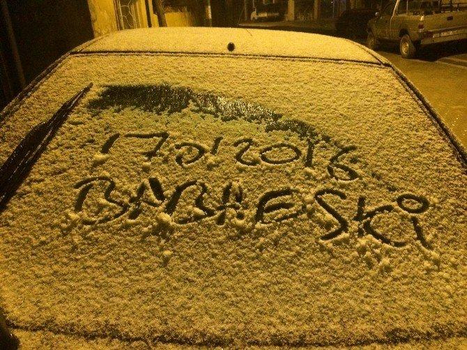Babaeski'de Beklenen Kar Yağışı Başladı