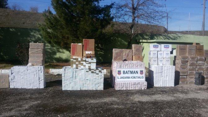 Batman'da 69 bin 760 paket kaçak sigara ele geçirildi
