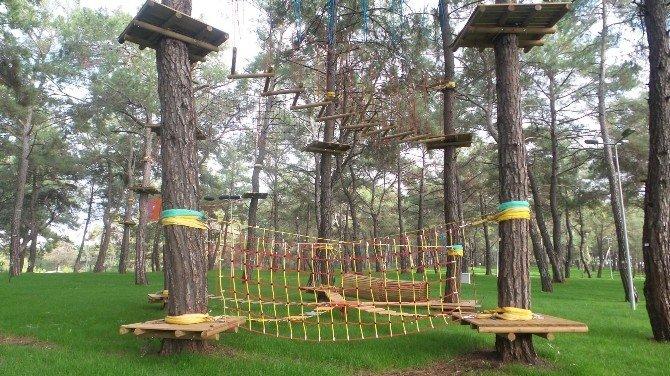Kepez'de Antalya'nın İlk Macera Parkı Açılıyor
