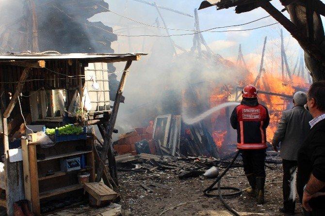 Sakarya'da İki Ayrı İlçede Yangın Çıktı
