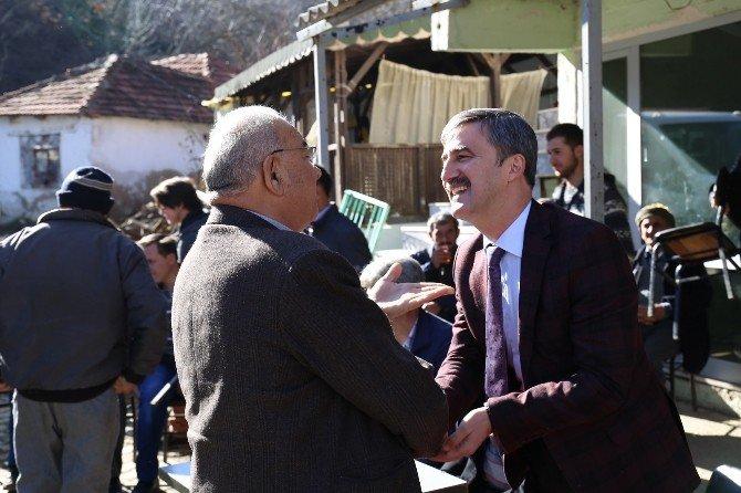 Başkan Şirin'e Dağmarmara'da Hizmet Teşekkürü
