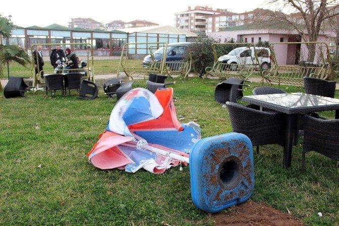 Yalova'da Fırtına Günlük Hayatı Etkiledi