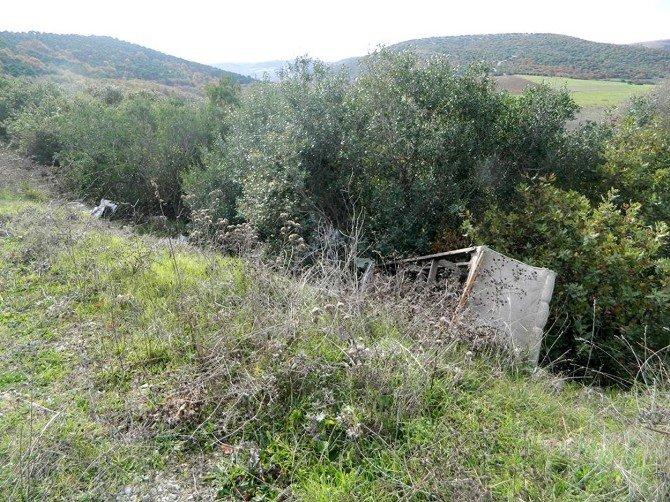 Mudanya'nın Zeytinliklerini Çöplüğe Döndürdüler