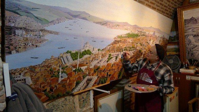 Cumhurbaşkanlığı Kabul Salonuna İstanbul Resmi Yapıyor