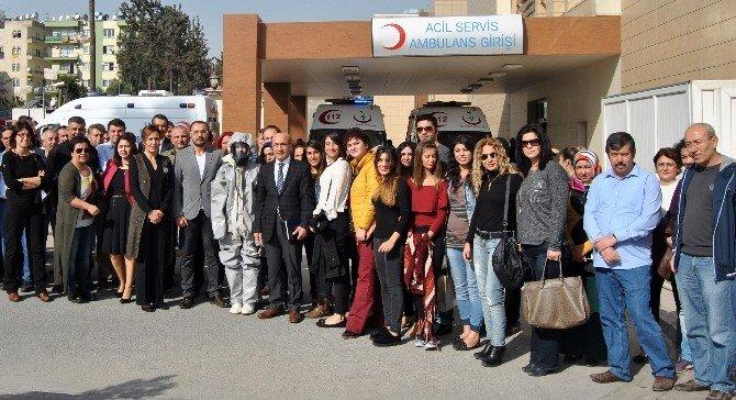Adana'da Sağlık Çalışanlarına Kbrn Tehlikelere Karşı Eğitim