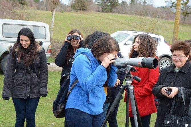 Öğrenciler Sarıkum'da Kuş Gözlemi Yaptılar