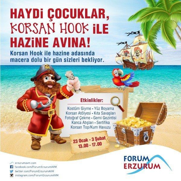 Forum Erzurum Sömestr Tatilini Korsan Hook İle Hazine Adası'nda Karşılıyor