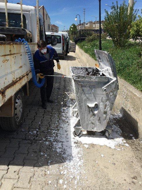 Kastamonu Belediyesi, Çöp Konteynırlarını Temizledi