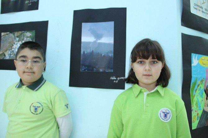 İlkokul Öğrencileri Çevre Kirliliğini Fotoğraflayıp Sergi Açtı