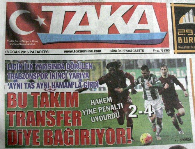Trabonspor'da fatura hakeme, futbolculara ve yönetime kesildi