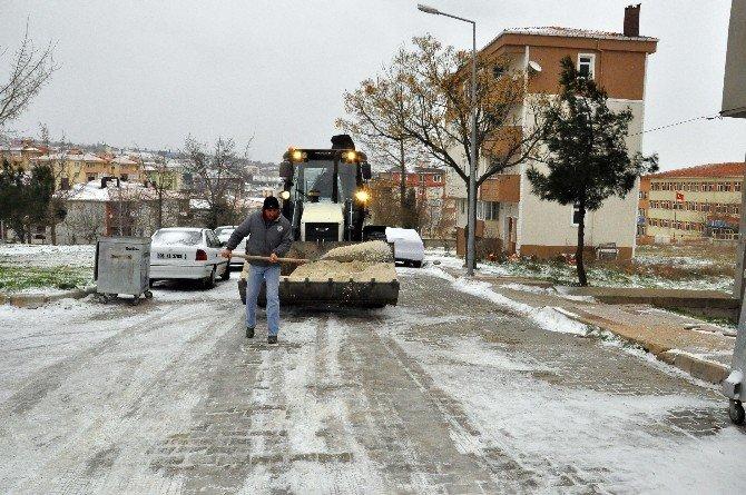 Malkara Belediyesi'nden Kar Çalışması