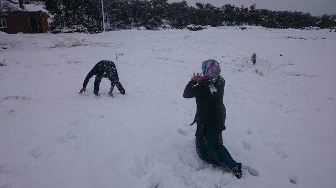 Aydın'da Kış Yüzünü Gösterdi
