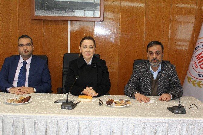 AK Parti Malatya Milletvekili Öznur Çalık Ticaret Borsasını Ziyaret Etti