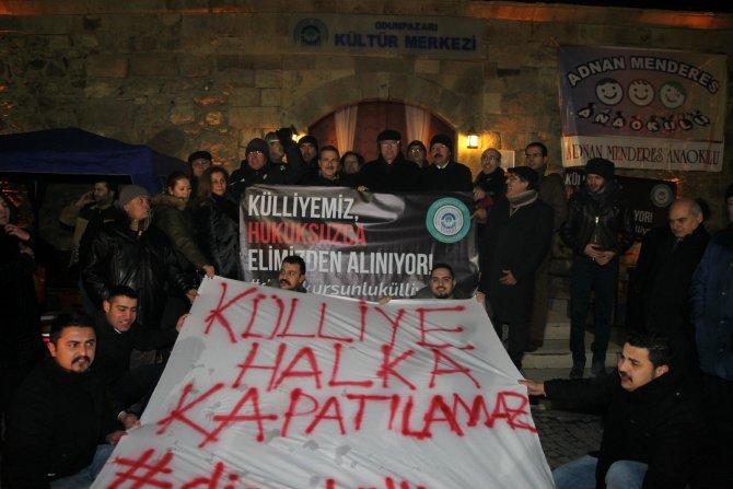 Başkanlardan Odunpazarı Belediyesi'nin 'Diren Külliye' nöbetine destek