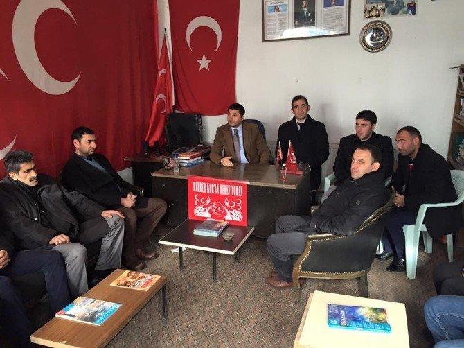 Kars Ülkü Ocakları Başkanından Arpaçay Teşkilatına Ziyaret