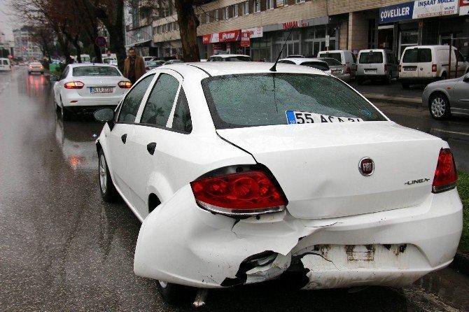 Samsun'da Zincirleme Kaza: 1 Yaralı