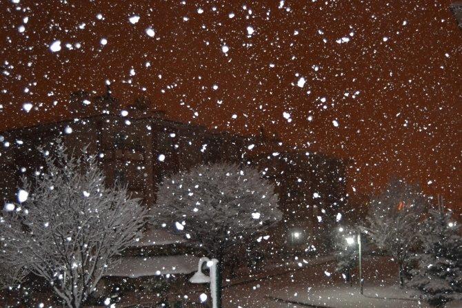 Samsun'un Havza ilçesinde yoğun kar yağışı
