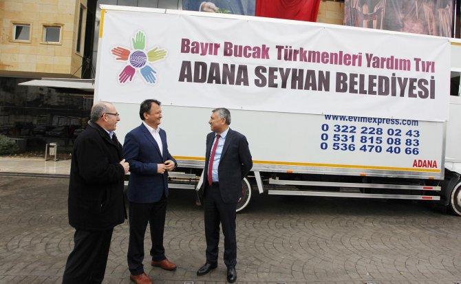 Seyhan Belediyesi'nden Bayırbucak Türkmenleri'ne yardım