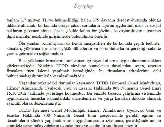 Yükleniciler işçilere para ödemeyince TCDD milyonlarca lira tazminat ödedi