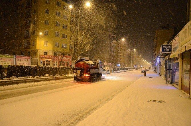 Bozüyük Belediyesi Kar Mesaisinde