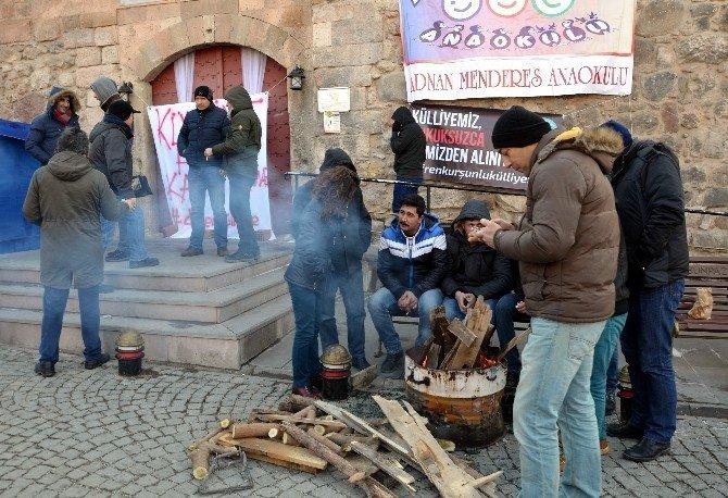 Eskişehir'de Oturma Eylemi 2'nci Gününde