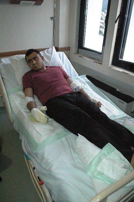 Kaymakam Gödek Merdan Yaralanan Polis Ziyaret Etti