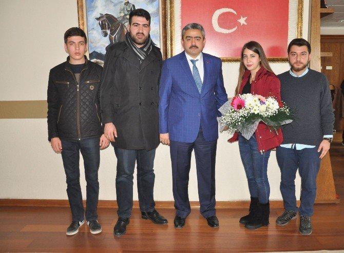 Nazilli Ülkü Ocakları'nın Yeni Üniversite Başkanından Haluk Alıcık'a Ziyaret
