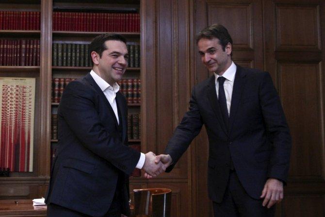 Aleksis Çipras, ana muhalefetin yeni lideri ile görüştü