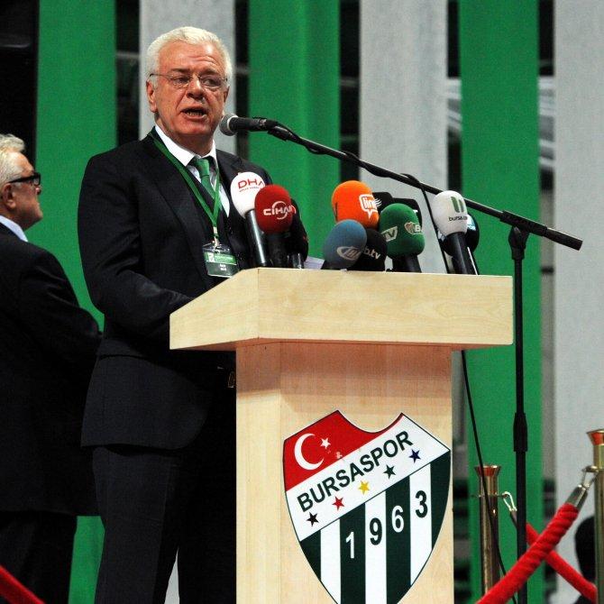 Bursaspor'un 25. başkanı Ali Ay oldu