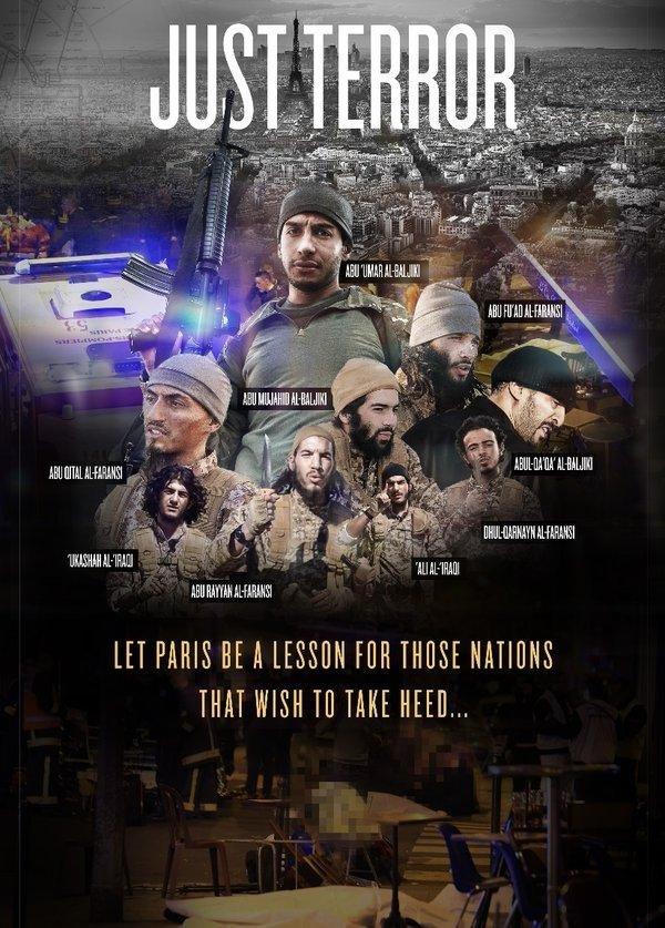 IŞİD, Paris saldırılarının faillerinin fotoğraflarını yayınladı
