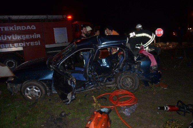 Tekirdağ'da Trafik Kazası: 4 Yaralı