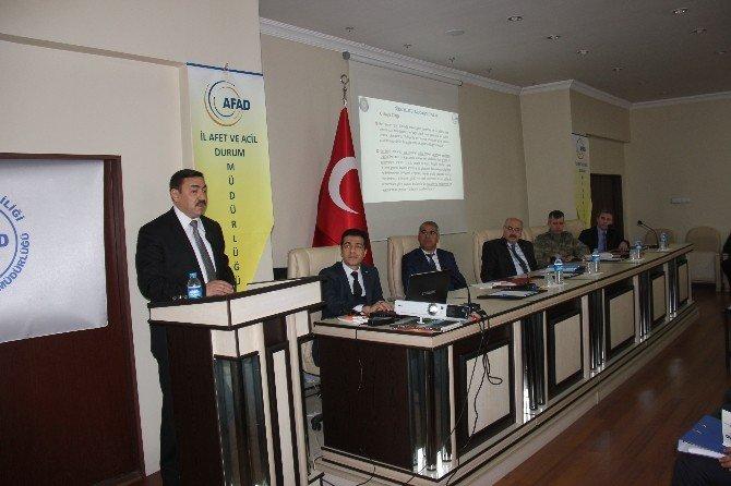 Bingöl'de İl Afet Ve Acil Durum Koordinasyon Kurulu Toplantısı Gerçekleştirildi