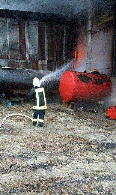 Demir İşleme Tesisinde Yangın