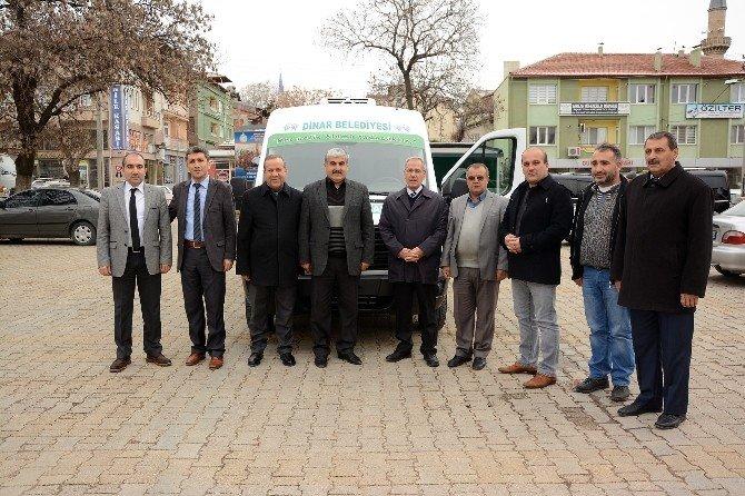 Afyonkarahisar'ın Dinar İlçesine Yeni Bir Cenaze Aracı Alındı