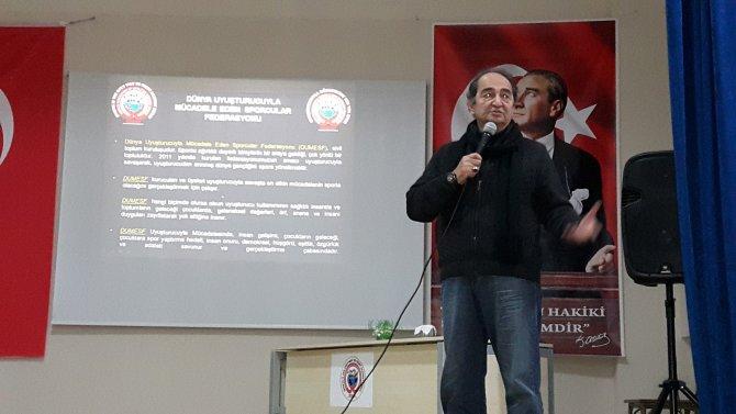 Bodrum'da öğrencilere uyuşturucu ve dopingin zararları anlatıldı