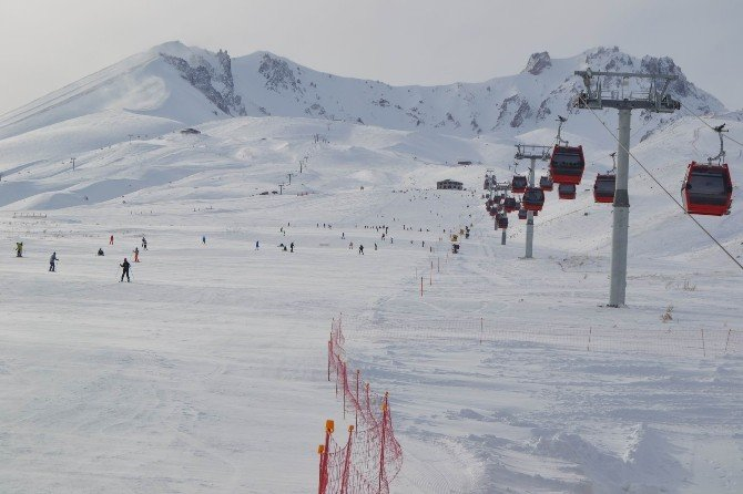 Erciyes Kayak Merkezi Sömestir Tatiline Hazır
