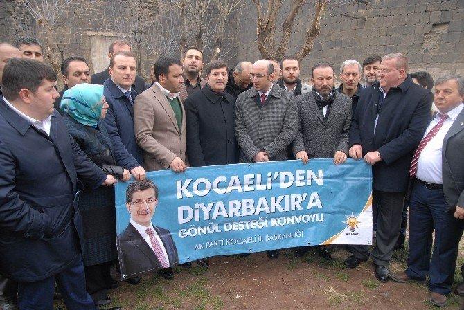 Kocaeli'nden Diyarbakır'a 'Gönül Desteği Konvoyu'