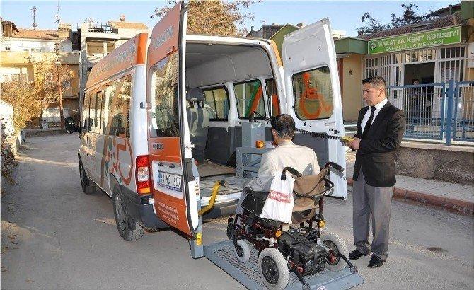 Engellilere 10 Bin 800 Özel Servis Yapıldı
