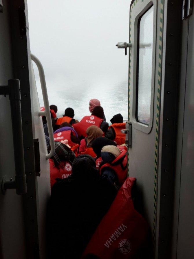 Suriyeli göçmenlere helikopterli kurtarma operasyonu