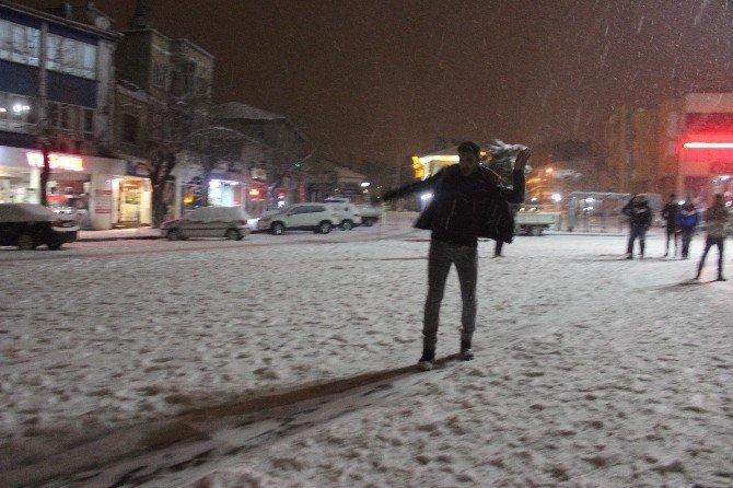 Tavşanlı'da Kar Tatili Belediye Hoparlöründen Anonsla Duyuruldu