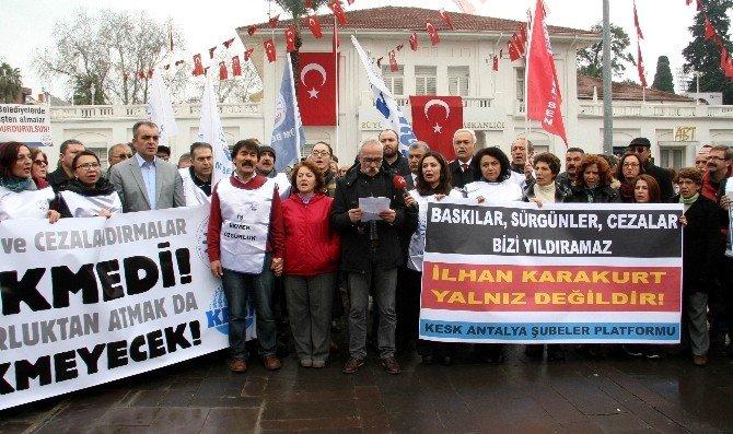 Tüm Bel-sen Başkanı Karakurt'un Memuriyetten Atılması Eylemi