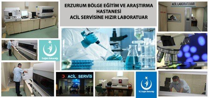 Erzurum Bölge Eğitim Ve Araştırma Hastanesi Acil Servisine Hızır Laboratuvar Kuruldu