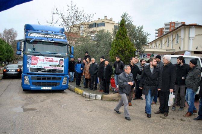 Mudanya'dan Türkmenlere 4. yardım TIR'ı yola çıktı