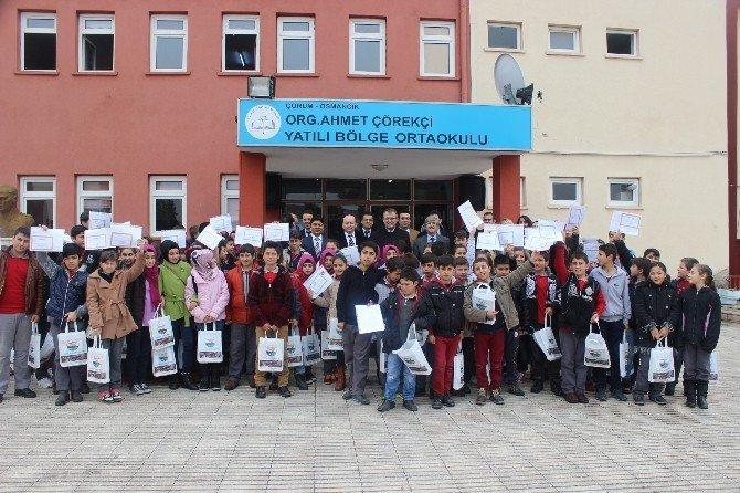 Osmancıkta 7 Bin 960 Öğrenci Karne Aldı