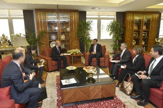 Bakan Tüfenkci, İtalya Büyükelçisi Mattiolo'yu Kabul Etti