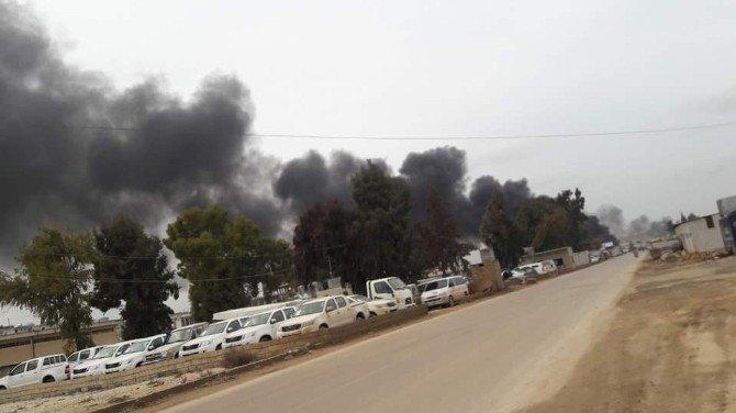 Rus Uçakları Suriye'nin Sarmada Kasabasına Hava Saldırı Düzenledi