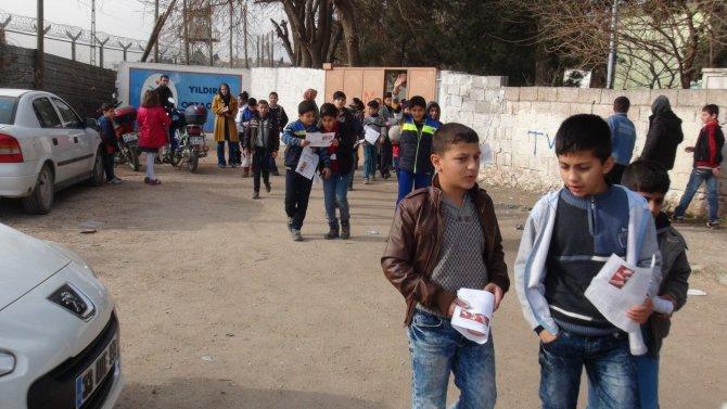 Nusaybin'de hendek ve çatışma arası karne heyecanı
