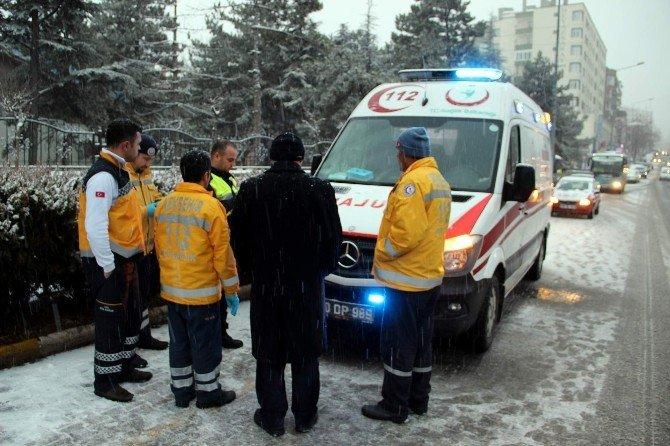Nevşehir'de Ambulans Öğrenciye Çarptı